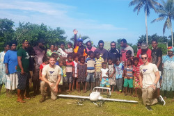 Vanuatu Drone Trials Phase 2  Dillon's Bay. Picture supplied by Swoop Aero.