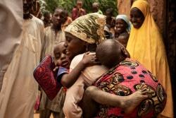 武装勢力から解放された210人の子どもたち。(南スーダン/2018年5月撮影)