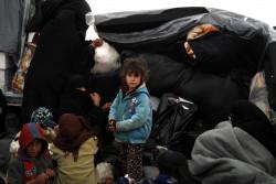 難民キャンプに到着したばかりの子どもたち。(2018年12月21日撮影)