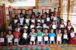 学習支援センターに通う子どもたち。