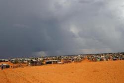 難民キャンプの景色(約55,000人の難民が住む)