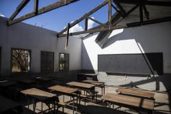 イダイの被害を受けたモザンビークの中学校。(2019年3月25日撮影)