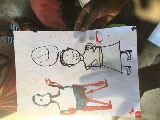 チクワワ県の15歳の女の子が描いた、男性に性交を求められたときの恐怖を表現した絵