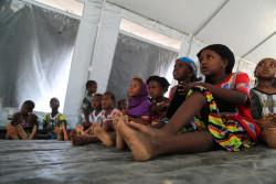 武装勢力の襲撃を受けたモプティ州の村から逃れてきた子どもたち。(2019年3月撮影)