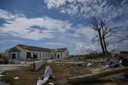 甚大な被害を受けたアバコ島の様子。(2019年9月8日撮影)